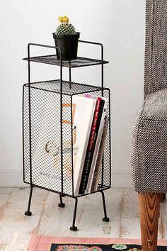 Mini Storage Rack http://www.urbanoutfitters.com/urban/catalog/category.jsp?id=A_FURN_FURNITURE_TABLES&facet_selected=category&currencySymbol=USD&sortBy=price