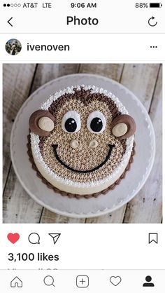 Chorizo ​​cake fast and delicious - Clean Eating Snacks Monkey Birthday Cakes, Monkey Cupcakes, Monkey Birthday Parties, Cupcake Cakes, Kid Cakes, Cartoon Cakes, Star Cakes, Cake Shapes, Animal Cakes