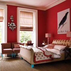 For bedrooms wall color combinations for bedroom red room color combination Bedroom Wall Colors, Bedroom Red, Bedroom Color Schemes, Home Bedroom, Modern Bedroom, Bedroom Decor, Bedroom Ideas, Warm Bedroom, Bedroom Furniture