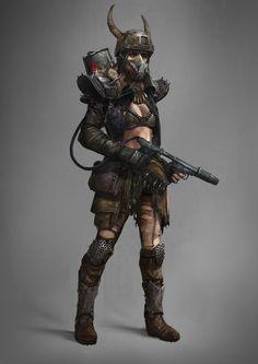 Ginye - Scavenger of the Wrangler Clan Post Apocalypse, Apocalypse World, Apocalypse Aesthetic, Post Apocalyptic Costume, Post Apocalyptic Art, Fantasy Character Design, Character Art, Zombies, Apocalypse Character