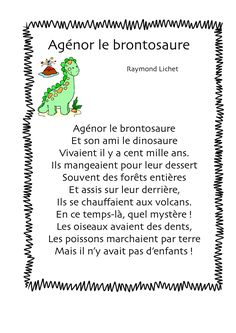 Agénor le brontosaure - R. French Poems, Drawing Conclusions, Practical Gifts, Literacy Activities, Ms Gs, Kids Education, Quizzes, True Stories, Improve Yourself