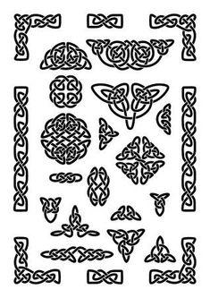 collection of various celtic knots goidelic frames vector illustration. simple knotwork designs on white background. Art Viking, Viking Symbols, Mayan Symbols, Egyptian Symbols, Viking Runes, Viking Woman, Ancient Symbols, Design Celta, Art Scandinave