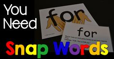 snap words for kindergarten