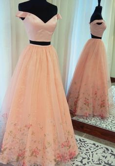 Two+Piece+Prom+Dress,+2018+Prom+Dress,+Pink+Long+Prom+Dress,+Off+the+Shoulder+Prom+Dress,+Floral+Prom+Dress    Contact+me:+<b>modseley.com@outlook.com</b>  please+email+which+color+you+want+after+or+before+you+place+the+order.+Also+you+can+put+down+your+color+or+size+or+date+requirement+in+the+no...