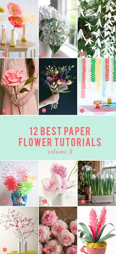 12 best paper flowers: volume 3 - The House That Lars Built - Home Decor -DIY - IKEA- Before After Crepe Paper Roses, Paper Peonies, Tissue Paper Flowers, Felt Flowers, Diy Flowers, Fabric Flowers, Diy Paper, Paper Crafts, Diy Crafts