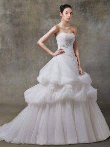 Vestiti da sposa  Scollo Cuore Asimmetrico di Vita