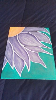 Flower Hand Painted Canvas for bri to make Flower Canvas Art, Diy Canvas Art, Hand Painted Canvas, Canvas Crafts, Canvas Ideas, Framed Canvas, Arte Floral, Diy Art, Craft Art