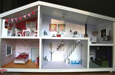 The renovated doll house by Hilde C., via Flickr