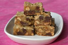 Peanut Butter Chocolate Chip Blondie Bars