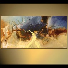 horizontal abstract painting living room