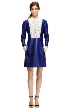 Embellished Leather A-Line Dress by Valentino Now Available on Moda Operandi