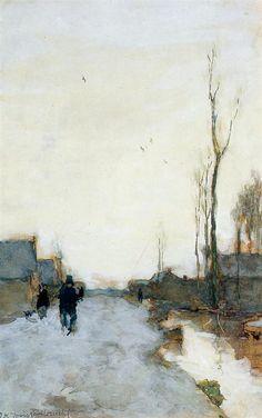Farm near Noorden by Johan Hendrik Weissenbruch. Realism. landscape