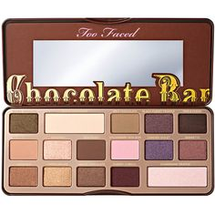 Chocolate Bar Eyeshadow Palette - Too Faced ($30) ❤ liked on Polyvore featuring beauty products, makeup, eye makeup, eyeshadow, beauty, too faced cosmetics and palette eyeshadow