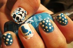 Going to a baby shower tmmr, so I'm going to get my nails in the spirt too! Just need to change the colors for a girl! CANT WAIT TO SEE! Baby Boy Nails, Baby Shower Nails, Get Nails, How To Do Nails, Hair And Nails, Creative Nail Designs, Creative Nails, Nail Polish Style, Pedicure Nail Art