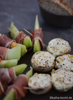 Tapas - gefüllte Champignons mit Mais - Katha-kocht!