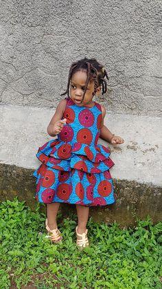 854513fdf Ankara toddler dress, girl African dress, girls christmas dress, african  baby fashion, african girl