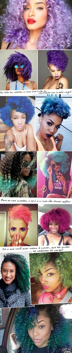 Gorgeous colourful curls | Afro hair | curly hair | pastel hair | coloured hair | pink, blue, green