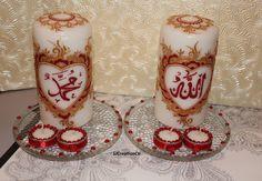 Islamic Candles,Arabic Calligraphy,Allah Mohammad Candles,Muslim Community,Ramadan favors,Eid gifts,Iftar party, Ramadan Mubarak gifts,Islam by SJCreationCo on Etsy