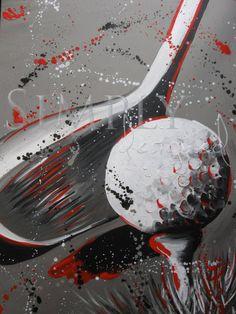 Splatter Paint Golf #golf #lorisgolfshoppe