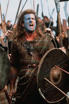 Mel Gibson as William Wallace in Braveheart, 1995 William Wallace, Mel Gibson, Nu Metal, Black Metal, Braveheart Costume, Tom Hiddleston, Thor, Real Estate Memes, Image Film