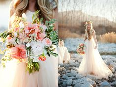 Gold + Peach Mother Daughter Bridal Inspiration | Featured on Style Me Pretty www.calierose.com