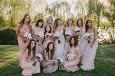 Ivana's gorgeous bridesmaids wore different White Runway dress styles by Pia Gladys Perey, Jadore and Honey & Beau. #realrunway #whiterunway #realwedding