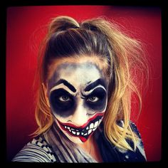 Halloween - Scary, Deranged, Evil, Insane, Crazy Clown make up! Halloween Rocks, Holidays Halloween, Halloween Make Up, Scary Halloween, Halloween Face Makeup, Halloween Ideas, Halloween Party, Halloween Costumes, Halloween Crafts