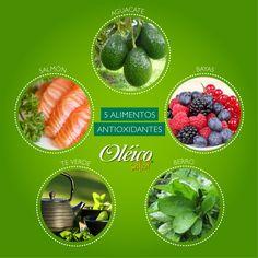 """""""5 ALIMENTOS ANTIOXIDANTES""""  #Superfood #Oleico"""