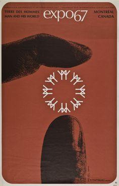 Poster Expo 67, Terre des hommes, Montréal, Canada.