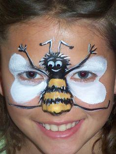 Face painting honey bee. DFX face paints.