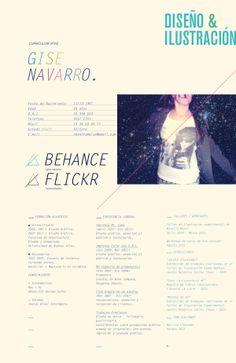 curriculum vitae by Gise Navarro, via Behance