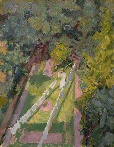 'Une vue de la fenêtre au 6 chemin Cambrian, Richmond', huile sur toile de Spencer Frederick Gore (1878-1914, United Kingdom)