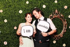 Hedge photo booth backdrop with flowers  | The Photo Booth Guys   http://photobooth.co/awesome-diy-backdrops-for-weddings/