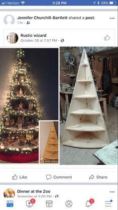 En deze heeft Hendrik ook gemaakt voor ons. Christmas Tree, Holiday Decor, Do It Yourself Crafts, Home Decor, Noel, Homemade Home Decor, Xmas Tree, Xmas Trees, Interior Design