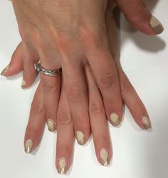 3 more sets of charity nails this evening! This lovely lady requested something geometric with nudes and golds - et voila!