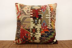 Patchwork Kilim Pillow Cover 20 x 20 Vintage by kilimwarehouse, $49.00