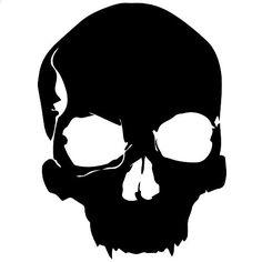Vampire Skull Decal Sticker (black, 5 inch) Stickerslug