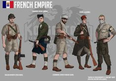 French Empire (National France) Soldiers - Art by Hussardcore Heart Of Iron, Character Art, Character Design, Valkyria Chronicles, Military Drawings, Roman History, Alternate History, French Army, Couple Cartoon