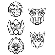 Transformers coloring pages bumblebee face paintings ~ Optimus prime face coloring page - Google Search   Drew's ...