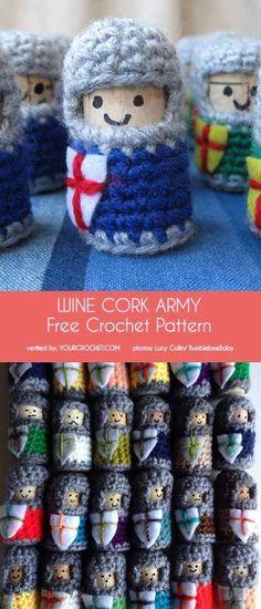 44917ec9c7908 Cork Knights and Wine Cork Army Free Crochet Pattern