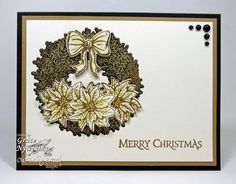 Stamps - Our Daily Bread Designs Poinsettia Wreath,Christmas Pattern Ornaments, ODBD Custom Poinsettia Wreath Dies