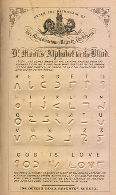 -- The Moon System of Embossed Reading (commonly known as the Moon writing, Moon alphabet, Moon type, or Moon code) is a writing system for the blind, using embossed symbols mostly derived from the Latin script (but simplified). It is claimed by its supporters to be easier to understand than Braille, though it is mainly used by people who have lost their sight as adults, and thus already have knowledge of the shapes of letters.