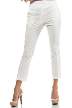 Formal women's pants in shades of ecru