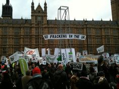 No Fracking in the UK, Campaign against Climate Change demo: http://www.campaigncc.org/