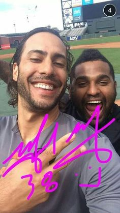 Morse and  Sandoval.  Great selfie.