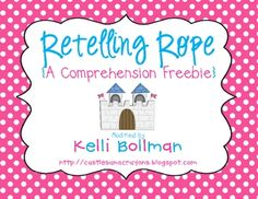 Retelling Rope-effective way to teach and practice retelling story elements {setting, character, events, conclusion} Retelling Rope, Retelling Activities, Comprehension Activities, Reading Strategies, Reading Skills, Teaching Reading, Reading Comprehension, Teaching Ideas, Guided Reading