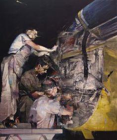 "Saatchi Online Artist Lou ROS; Painting, ""MEN AT WORK"" #art"