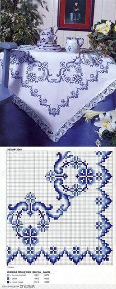 Cruz-ponto / toalha de mesa em Stylowi.pl                                                                                                                                                     Mais