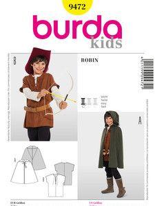 burda style: Fasching - Kinderkostüme - Historische Kostüme - Robin, Cape, Wams