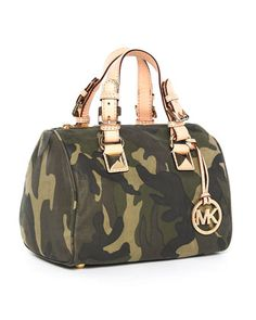 MICHAEL Michael Kors Small Satchel, Camo. My fabulous friend Shannon found this for me You are amazing girl!!! A camo MK bag.....I'm in Heaven ❤❤❤